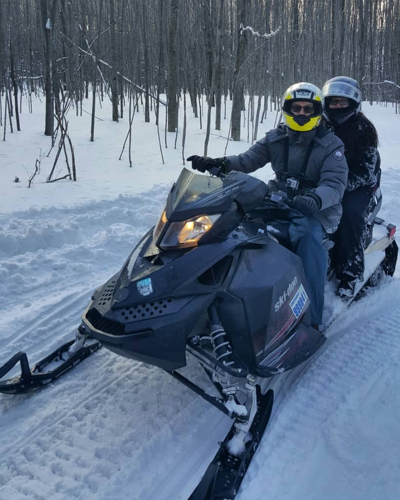 Snowmobiling in Collingwood