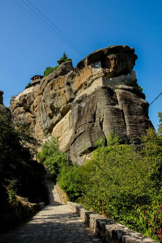 the holy trinity monastery of the meteora monasteries