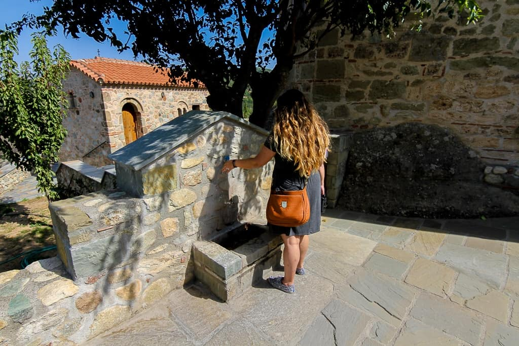 There's actually fresh drinking water available at some of the Meteora Monasteries