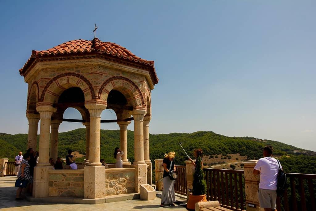 The gorgeous gazebo at Varlaam Monastery