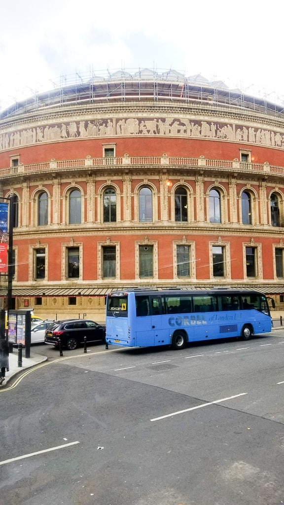 Royal Albert Hall on the Afternoon Tea Bus Tour