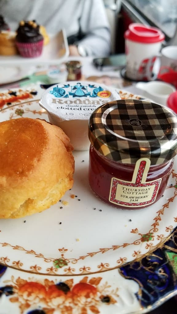 Scones as part of the afternoon tea bus tour