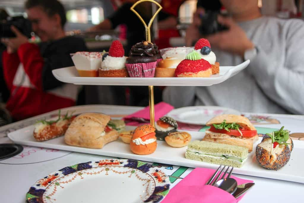 Desserts at the Afternoon Tea Bus Tour