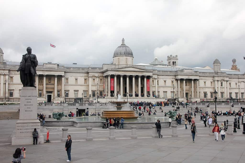 Trafalgar Square on the Afternoon Tea Bus Tour