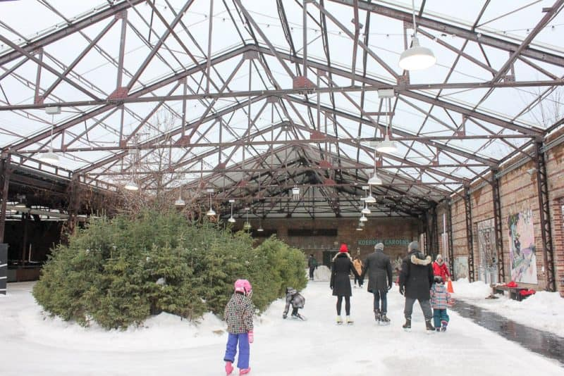 Visiting the Evergreen Winter Village is one of the things to do in Toronto this winter