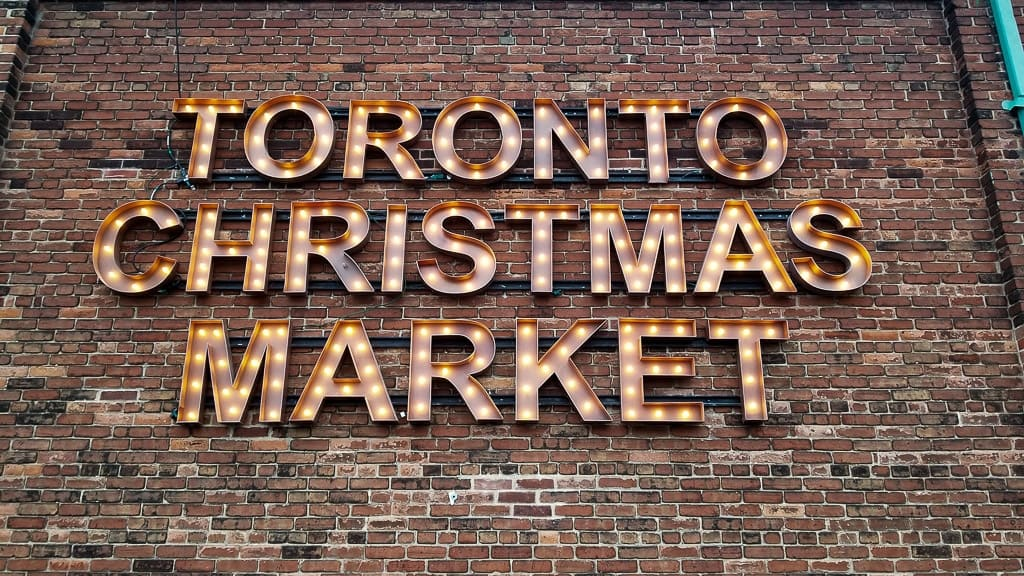 Entrance sign to the Toronto Christmas Market