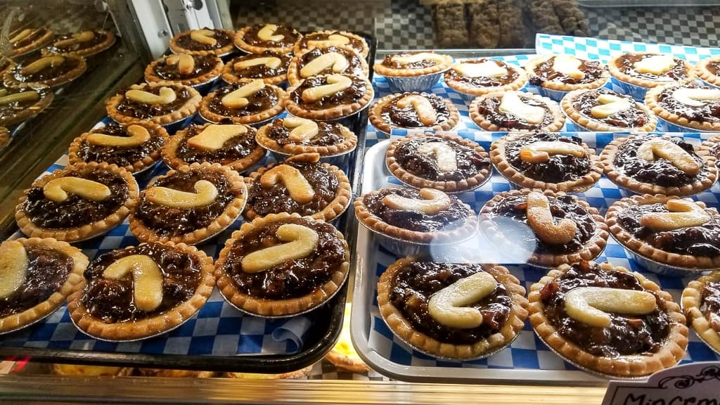 Some of the decadent food at the Toronto Christmas Market