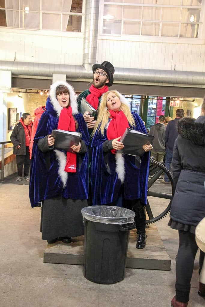 Live carolers at the Toronto Christmas Market