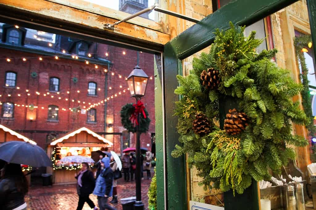 Door Entrance at the Toronto Christmas Market