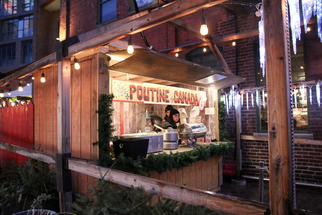 Poutine Stand at the Toronto Christmas Market
