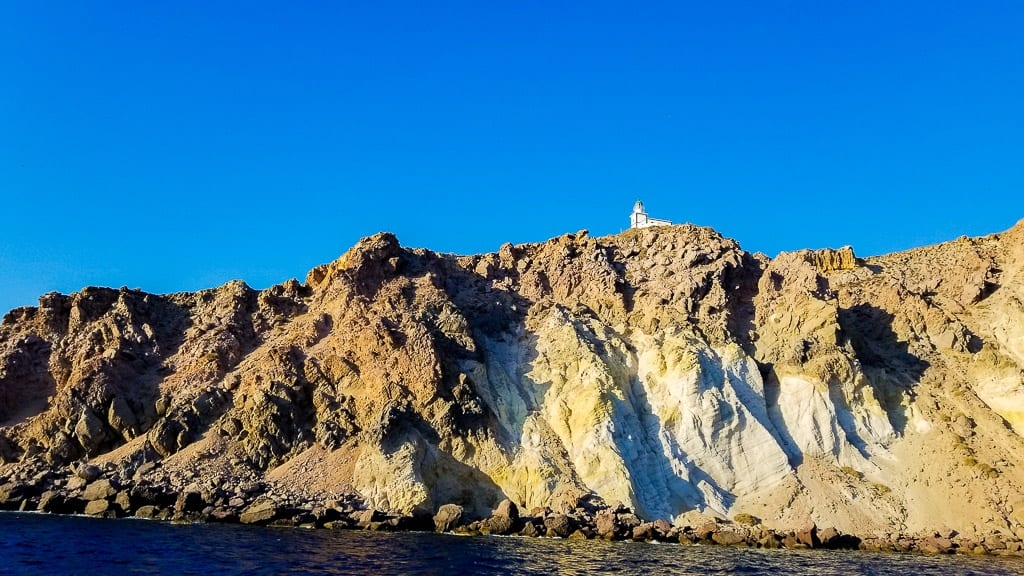 seeing the akrotiri lighthouse is one of the things to do in santorini