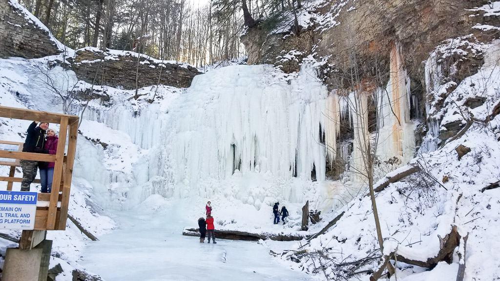 Hamilton Waterfalls in Winter