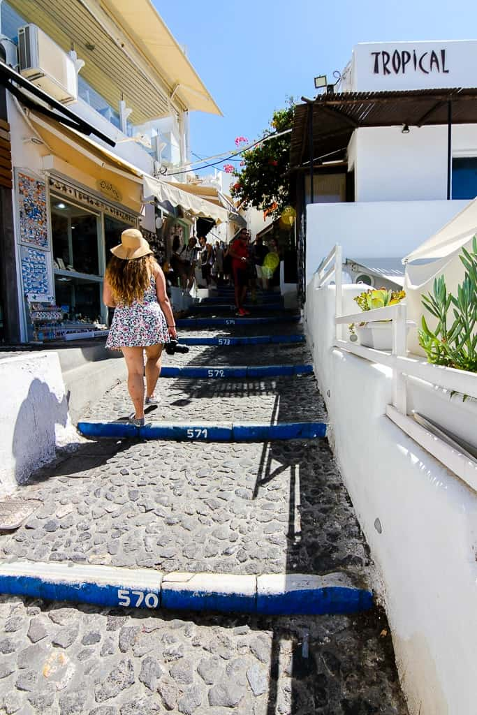 exploring fira is one of the things to do in santorini
