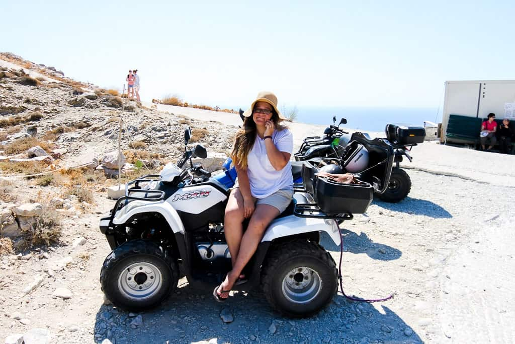 exploring on an atv is one of the things to do in santorini