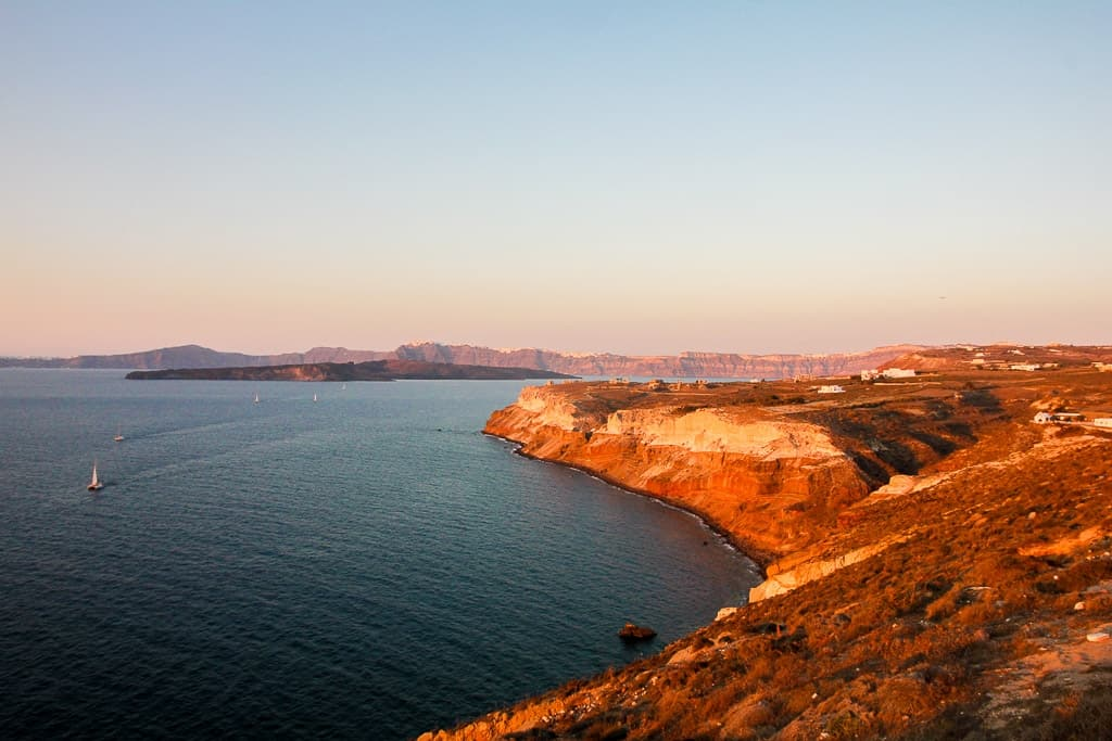 watching sunsets is one of the things to do in santorini
