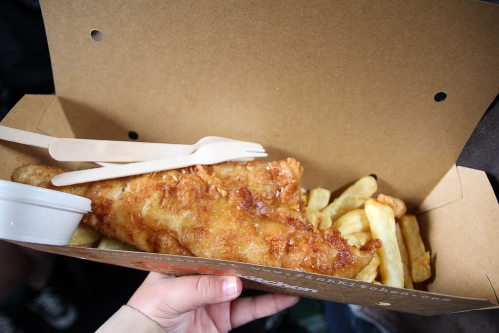 fish and chips is a food experience to have in london