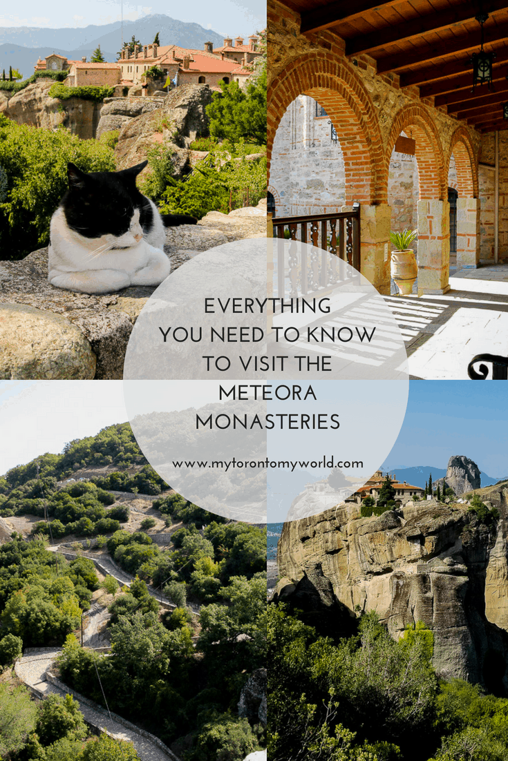 A guide to visiting the Meteora Monasteries with important information like opening hours, cost, how to dress and of course lots of pictures to entice you to visit!