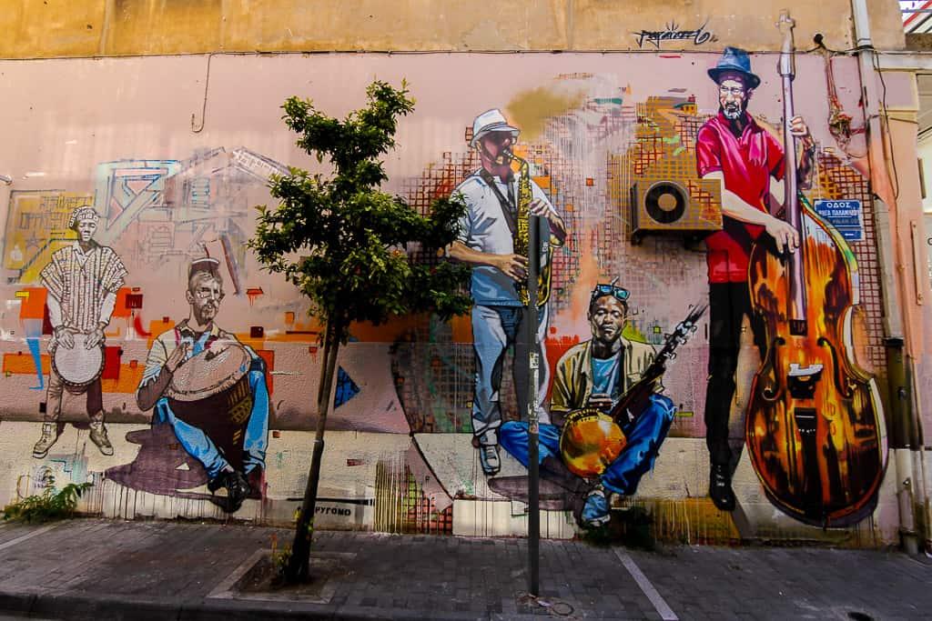 Musicians Street Art Piece