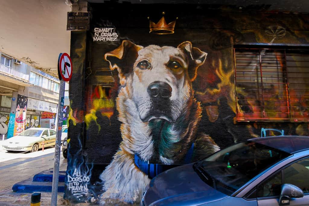 Loukanikos Street Art Piece in Athens