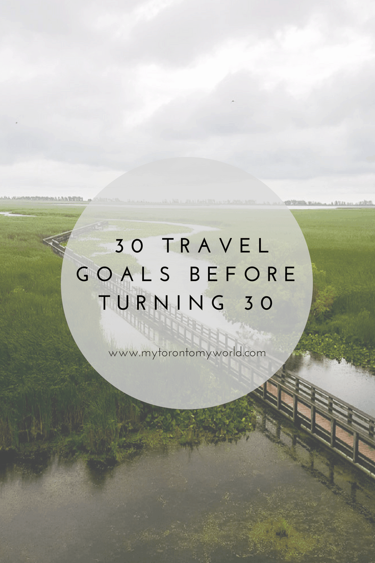 30 Travel Goals before Turning 30. A short little personal #bucketlist of travel goals to accomplish in the next year.