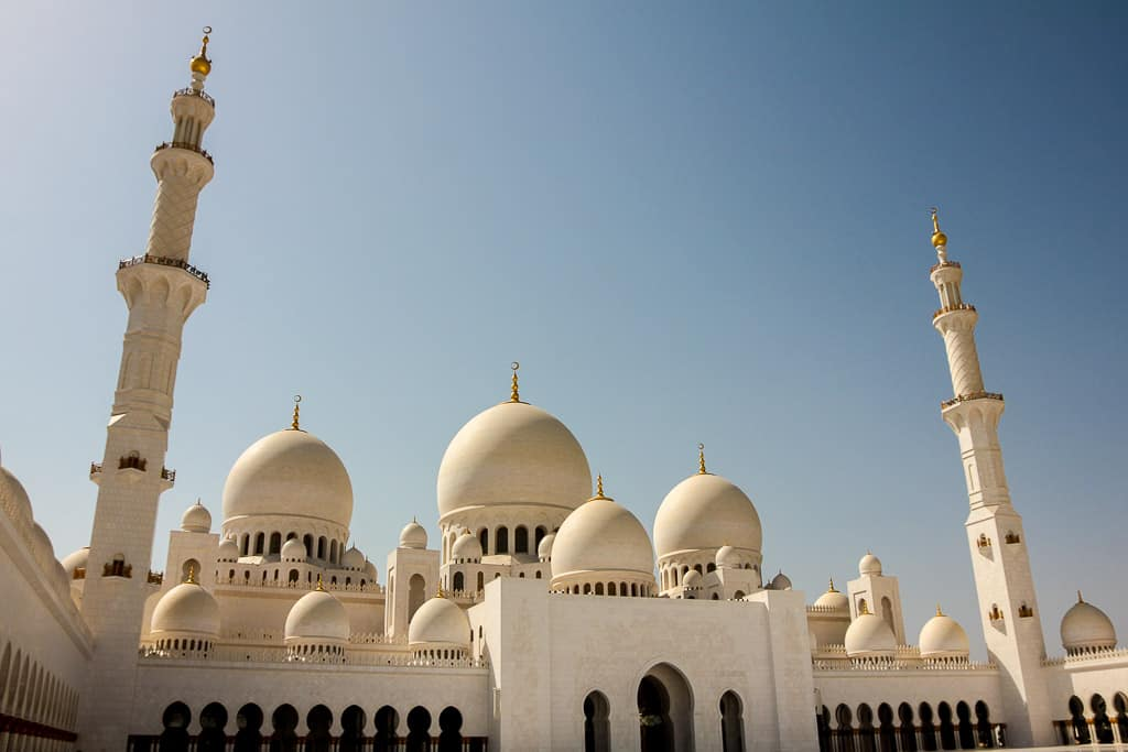 Another shot of the gorgeous domes at the Sheikh Zayed Grand Mosque