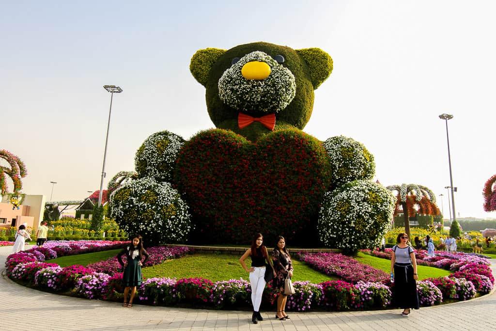 Giant teddy bear on display
