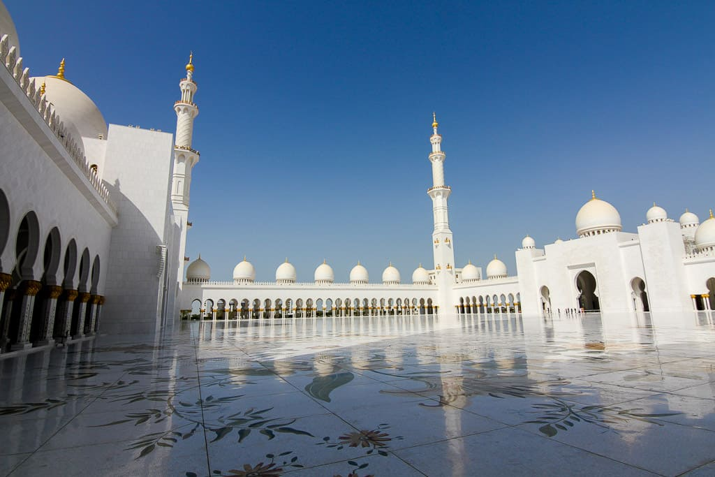 The courtyard in the Grand Mosque