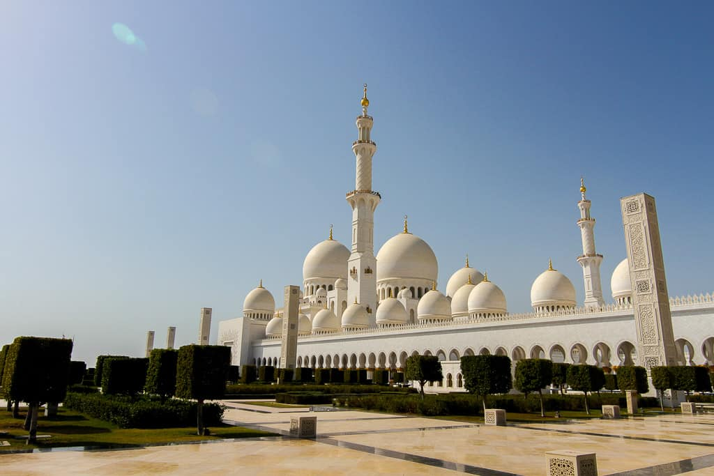 Some of the 82 domes in the Grand Mosque