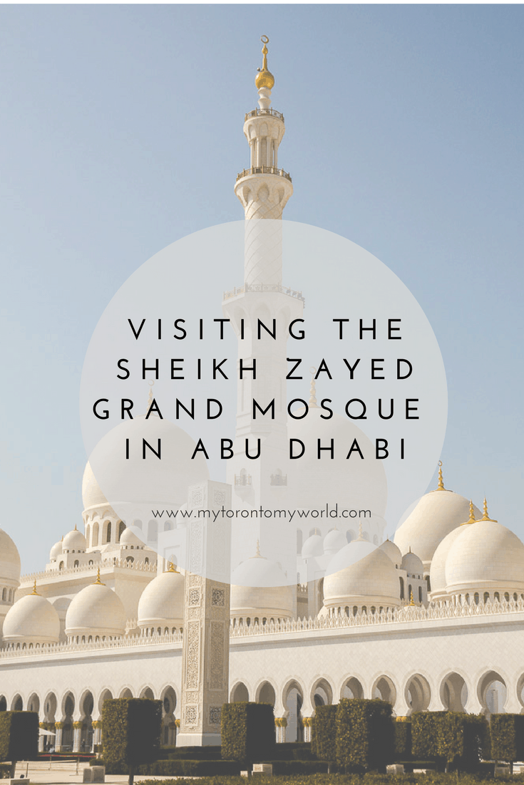 Visiting Sheikh Zayed Grand Mosque in Abu Dhabi