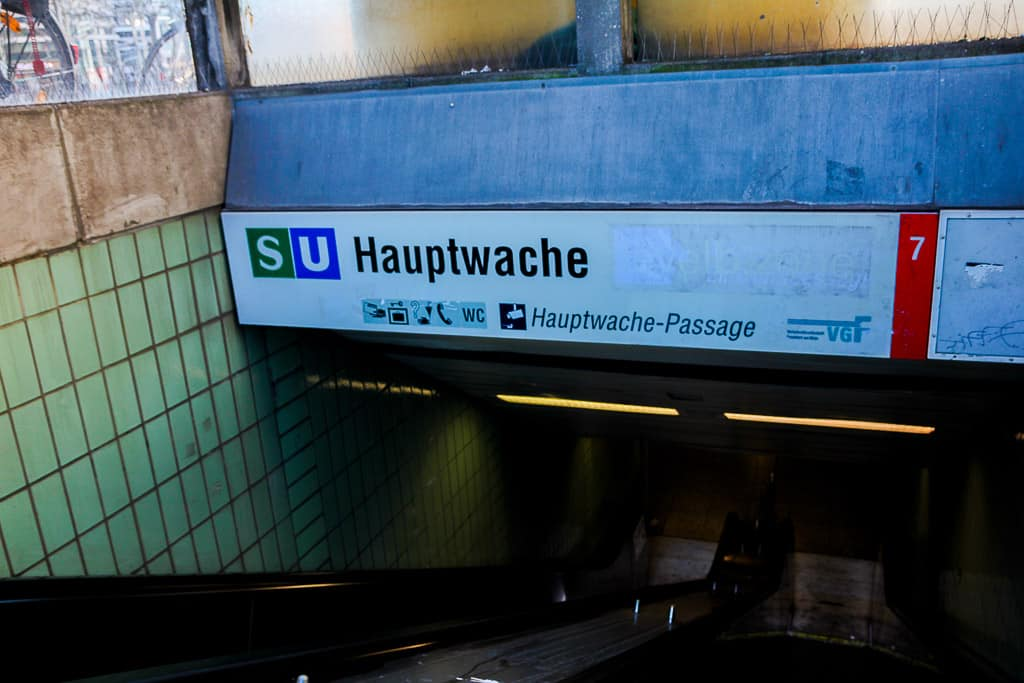 Hauptwache train station