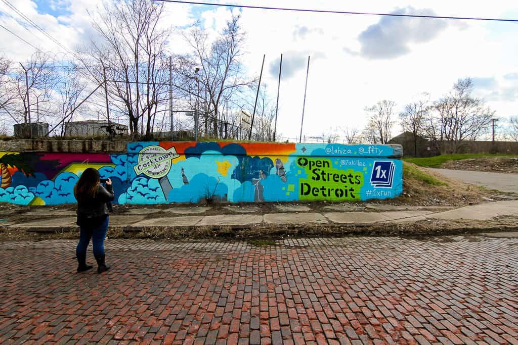 Street art in Corktown, Detroit
