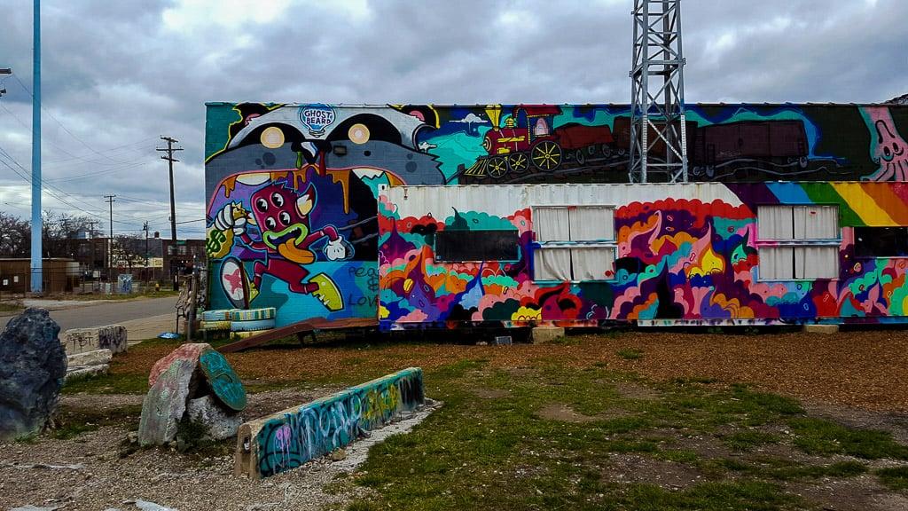 Street art in Lincoln Street Art Park in Detroit