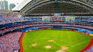 Taking in the Blue Jays game with an open dome is one of the things to do in Toronto in the summer