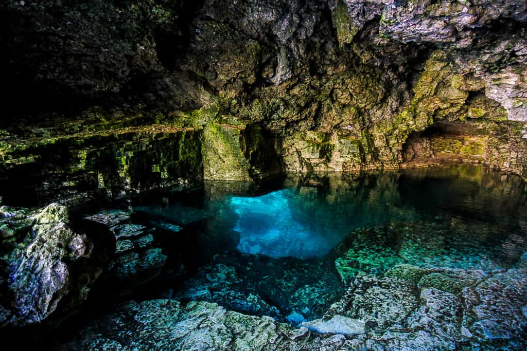 Inside the Tobermory Grotto