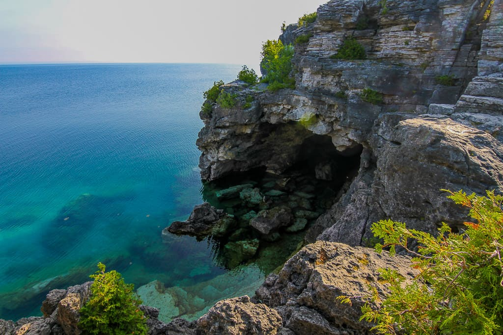 Hiking the Tobermory Grotto in Bruce Peninsula National Park