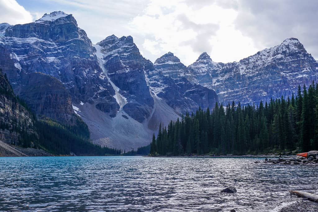 Moraine Lake in Banff National Park in Alberta is one of the most beautiful places in Canada