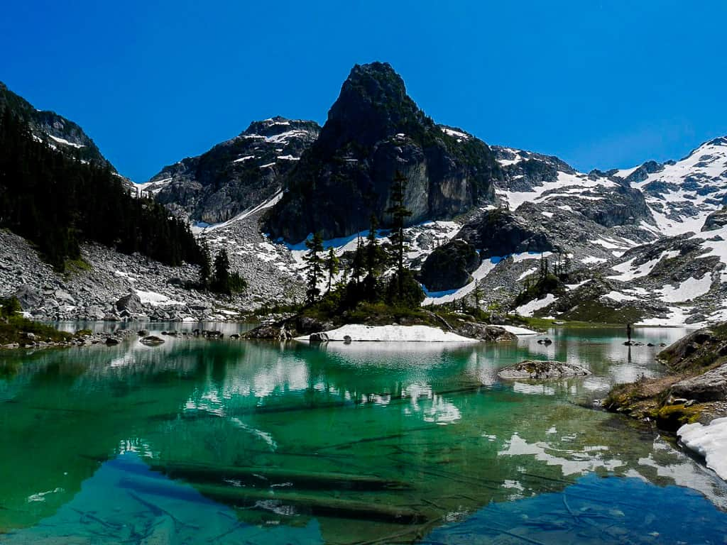 Watersprite Lake near Squamish, British Columbia is one of the most beautiful places in Canada