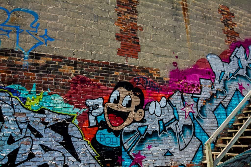 Graffiti in Milky Way Lane Way - Milky Way Toronto Street Art