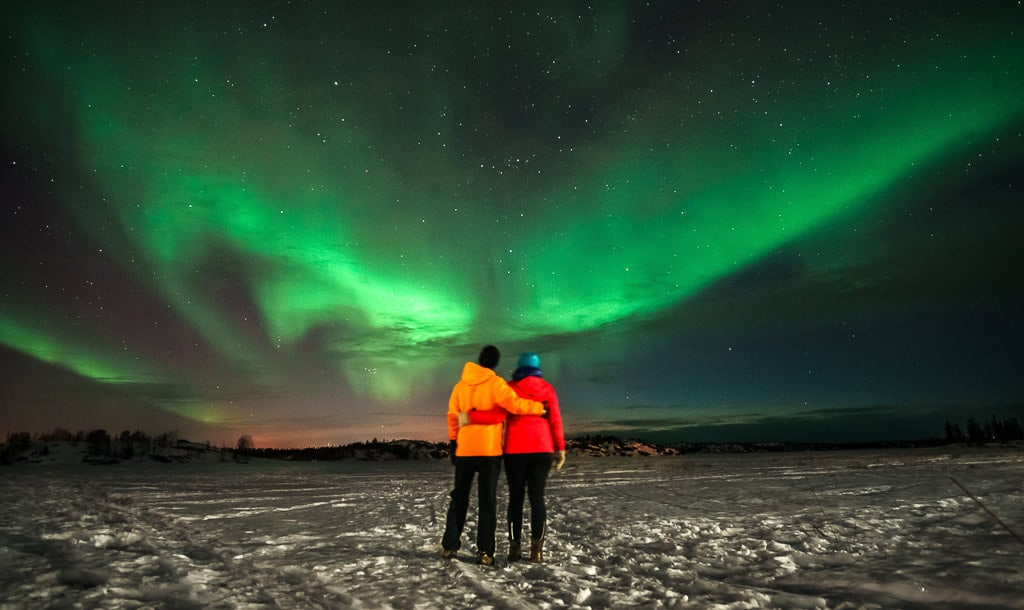 The Northern Lights in Yellowknife, Northwest Territories is one of the most beautiful places in Canada