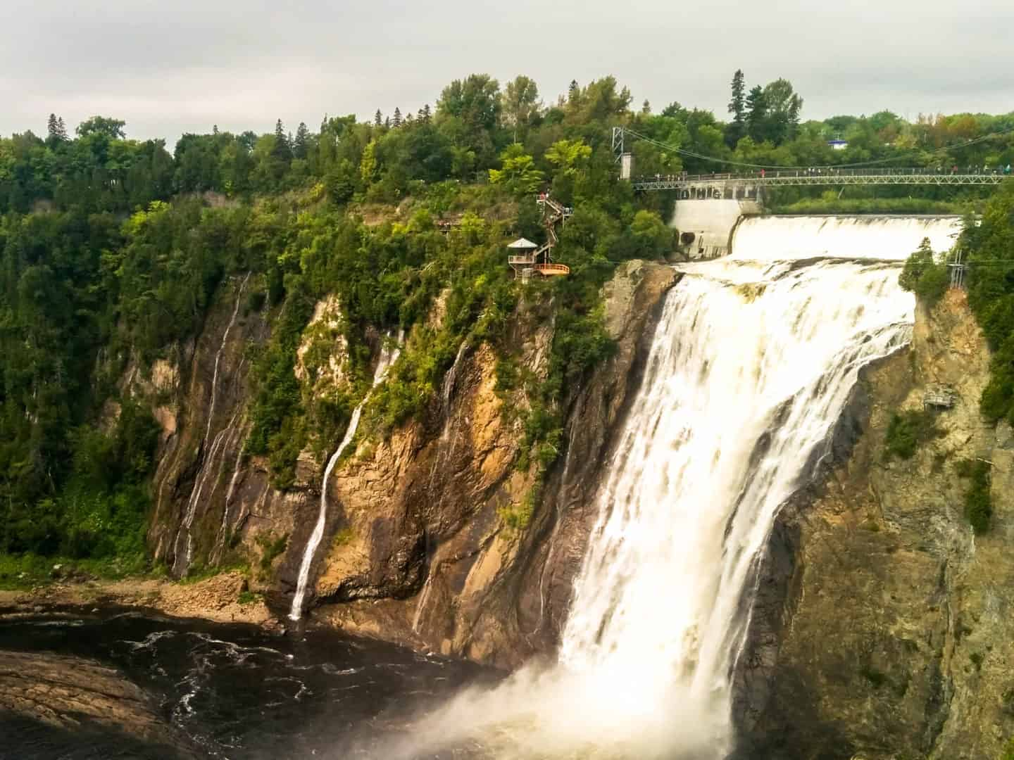 Montmorency Falls is one of the most beautiful places in Canada