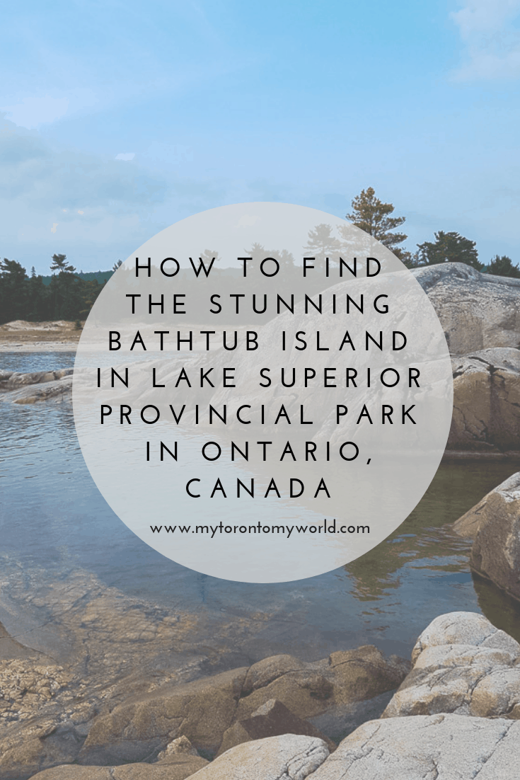 How to find the stunning Bathtub Island in Lake Superior Provincial Park in Ontario, Canada