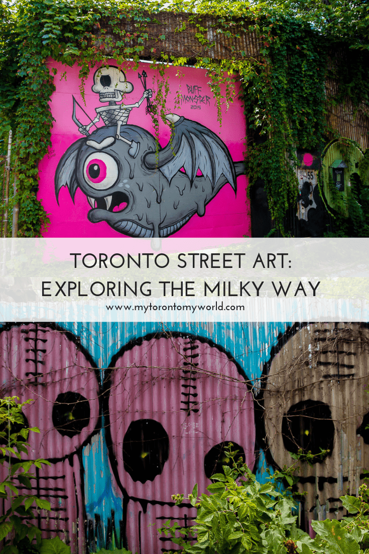 Exploring the street art on the Milky Way Laneway in Toronto, Canada
