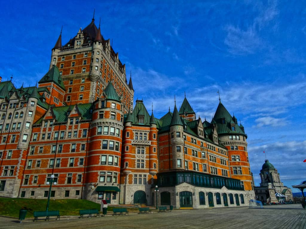 Chateau Frontenac is one of the most beautiful places in Canada