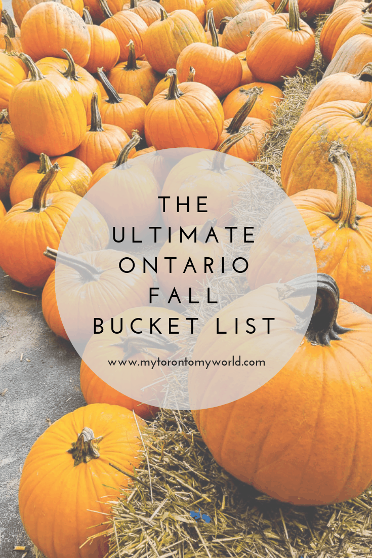 The Ultimate Ontario Fall Bucket List with a huge list of things to do in Ontario this fall