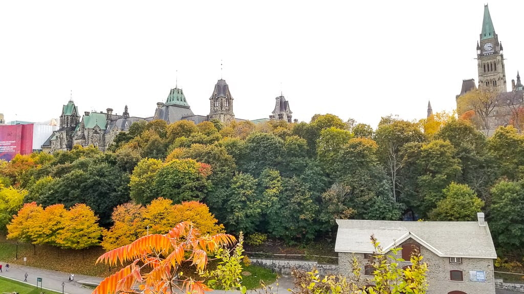 Viewing the fall colours at Parliament is one of the things to do in Ontario this fall