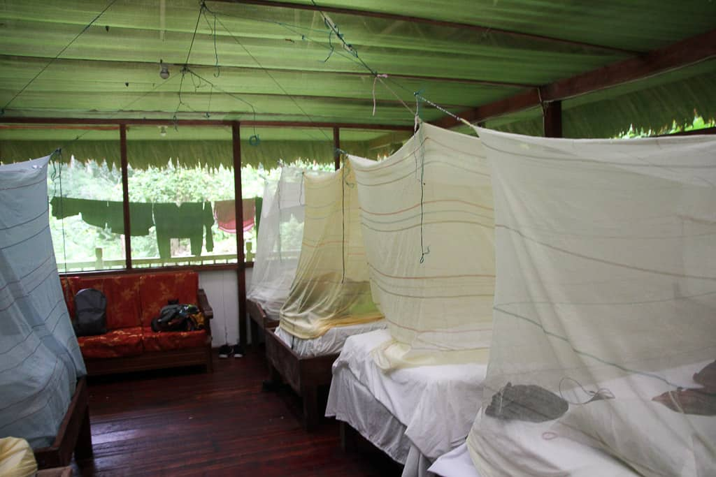 Mosquito nets is one of the tips for visiting the Amazon