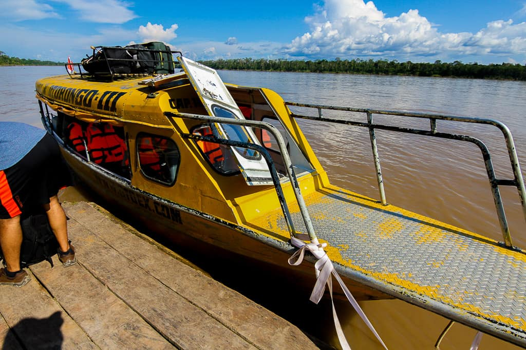 Preparing for the boat ride is one of the tips for visiting the Amazon