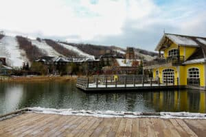 Visiting Blue Mountain as a day or weekend trip is one of the things to do in Ontario this winter