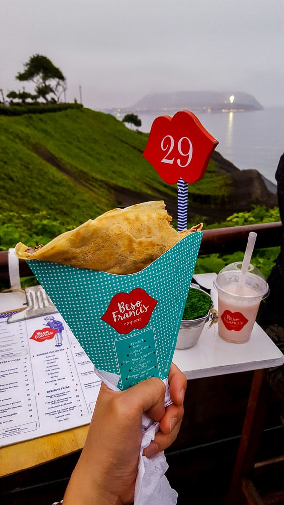 Eating a crepe at Beso Frances is one of the things to do in Miraflores