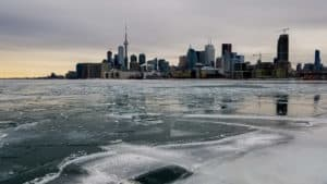 Exploring frozen Lake Ontario is one of the things to do in Toronto this winter